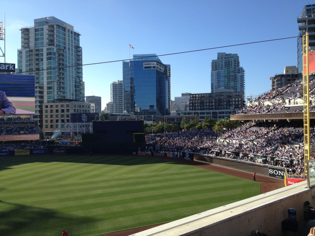 Hard to beat the view at Petco.
