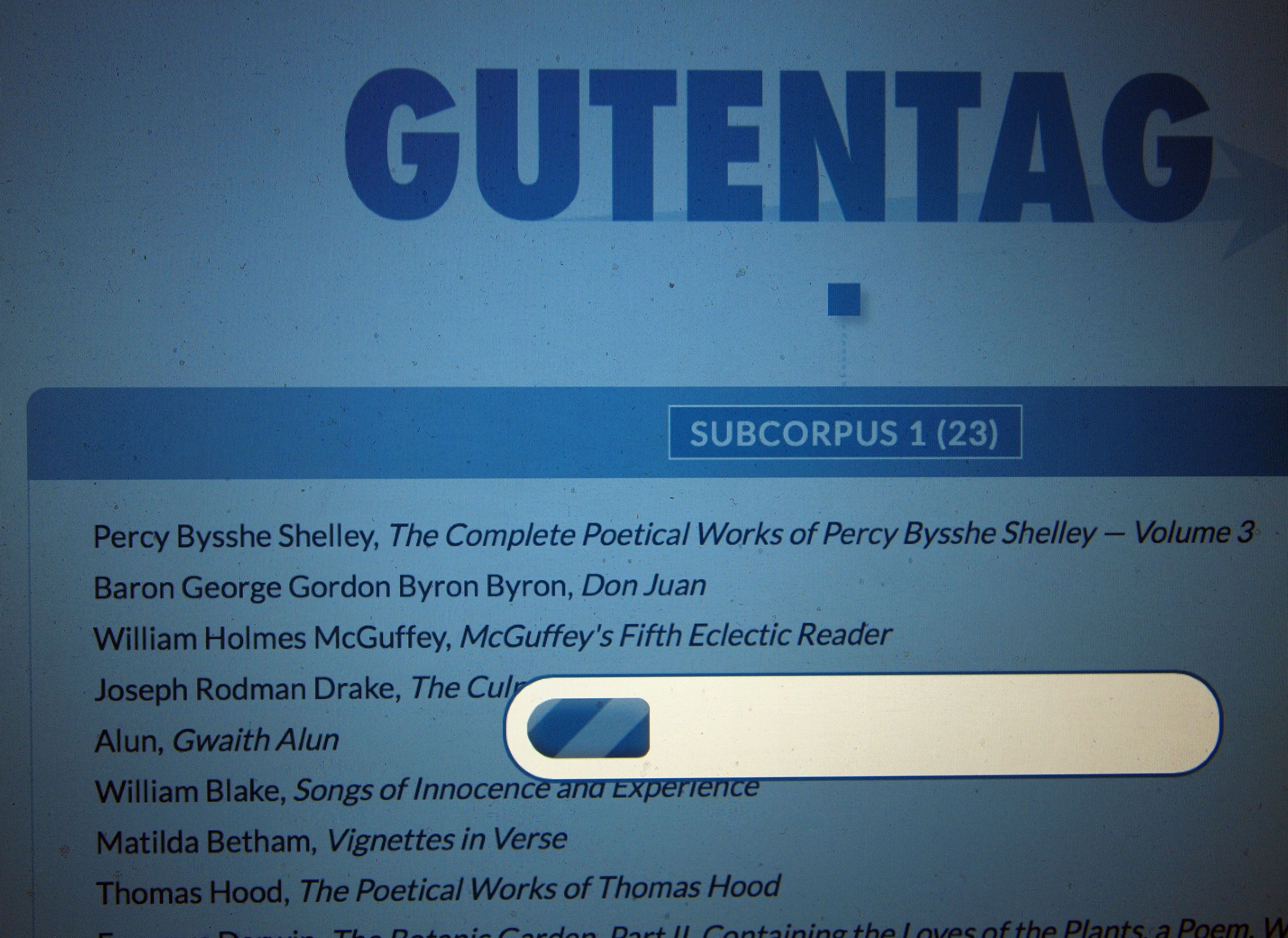The GutenTag results page.